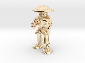 Dwarven Monk  in 14k Gold Plated Brass: 1:30