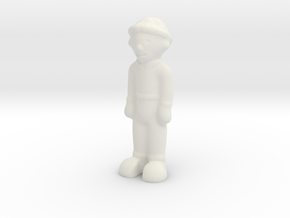 Funny Little 3D Man in White Strong & Flexible
