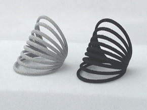 RING MAGNETIC FIELD PLASTIC SIZE 7 in Black Natural Versatile Plastic