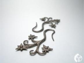 Flora Earrings - Stainless Steel in Polished Bronzed Silver Steel