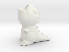 Dragon Penholder in White Natural Versatile Plastic