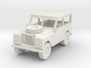 Land Rover 1:30 scale Soft Top Rolled Up. in White Natural Versatile Plastic