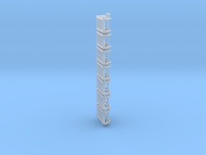 N Scale Stairs 7 (7 pc) in Smooth Fine Detail Plastic