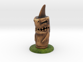 Shark Tiki in Full Color Sandstone