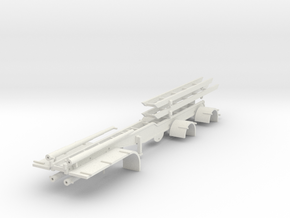000588 Roll on off Trailer HO in White Natural Versatile Plastic: 1:87 - HO