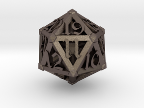 Lattice work D20 with 3D #'s in Stainless Steel