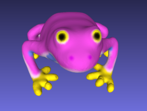 Pink Frog in Full Color Sandstone