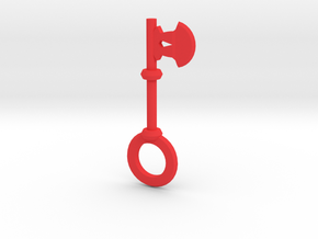 Axe Key in Red Processed Versatile Plastic