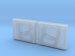 Land Rover Defender Slotted Style Door Handles in Smooth Fine Detail Plastic