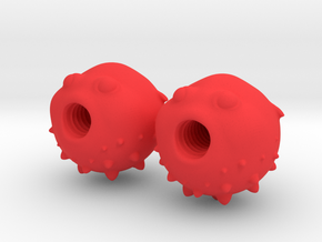 Blowfish Valve Caps - Presta Tires in Red Strong & Flexible Polished