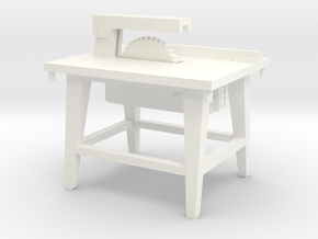 1:50 Bauzubehör Kreissäge / Table Saw in White Processed Versatile Plastic