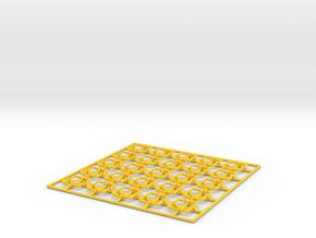 Vase Base in Yellow Processed Versatile Plastic