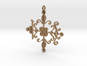Papa Legba Veve Pendant in Natural Brass