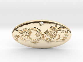 Bookends as Performed by Cats in 14K Yellow Gold