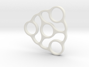 Trispinner (spinner) in White Natural Versatile Plastic