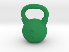 Kettlebell For You  in Green Processed Versatile Plastic