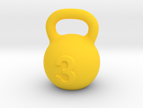 Kettlebell For You  in Yellow Processed Versatile Plastic