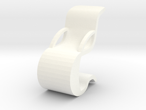 FLOWING CHAIR in White Processed Versatile Plastic
