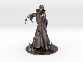 Mind Flayer Miniature in Polished Bronzed Silver Steel: 1:55