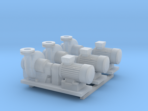 Centrifugal Pump #2 (Size 3 3pc) in Smooth Fine Detail Plastic
