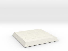 Wooden Square Base in White Natural Versatile Plastic