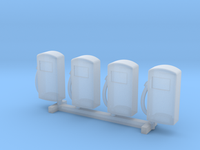N Scale '60s Gas Pumps 4pc in Frosted Ultra Detail