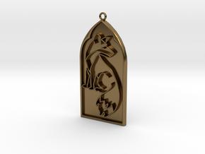 Pendant Reynard in Polished Bronze