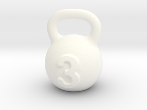 Kettlebell For You Little  in White Processed Versatile Plastic
