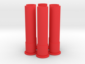 Governor  Shells 6x in Red Strong & Flexible Polished