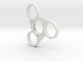 Blade Fidget Spinner (Fits 608ZZ Bearings) in White Natural Versatile Plastic