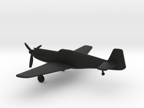 North American P-51A Mustang I in Black Natural Versatile Plastic: 1:144