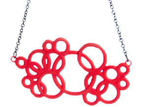 Michelin-like necklace in Red Processed Versatile Plastic