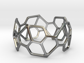 Bracelet Hex in Polished Silver