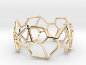 Bracelet Hex in 14k Gold Plated Brass