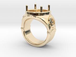 Ring Trefoil in 14k Gold Plated Brass: 5.5 / 50.25