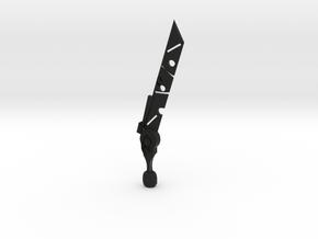 Zelda Gaurdian Sword in Black Natural Versatile Plastic