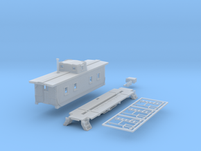N-Scale NKP 1000-Series Caboose Kit in Frosted Extreme Detail