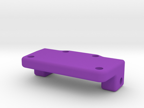 Rear Axle Plate2 in Purple Processed Versatile Plastic