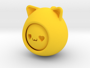 emoji cat in Yellow Processed Versatile Plastic