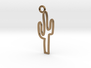 Cactus Charm! in Natural Brass