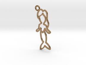 Mermaid Charm! in Natural Brass