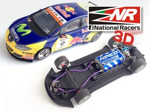 3D Chassis - SCX SEAT Leon WTCC (Inline) in Black Strong & Flexible