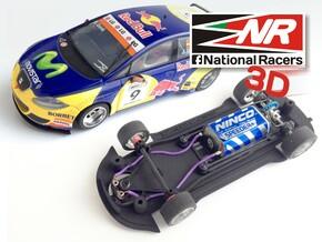3D Chassis - SCX SEAT Leon WTCC (Inline) in Black Natural Versatile Plastic