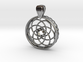 COMING SOON - Iris Pendant For 10mm CZs in Fine Detail Polished Silver