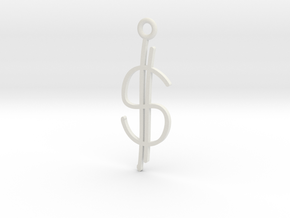 Money Charm! in White Natural Versatile Plastic