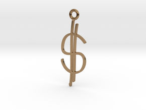Money Charm! in Natural Brass