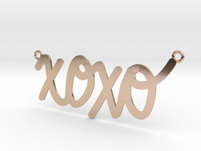 XOXO Necklace! in 14k Rose Gold Plated Brass