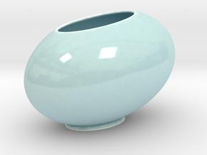 The Tilted Egg in Gloss Celadon Green Porcelain