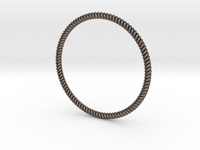 Bracciale Attorciliato in Polished Bronzed Silver Steel