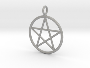 Simple pentagram necklace in Aluminum